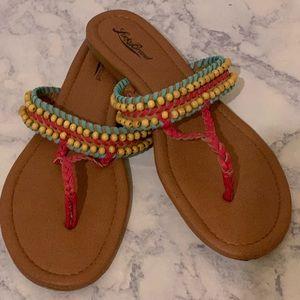 Lucky Brand Hobo Beaded Summer Slide Sandals